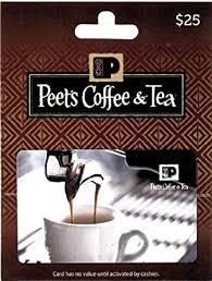 Peet's Coffee & Tea $25 Gift Card: Gift Cards - Amazon.com
