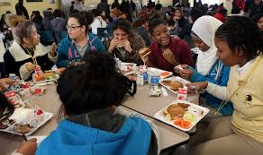 middle school lunch table. Exellent Table One Table 10 Girls Nine Countries Countless Stories   HoustonChroniclecom On Middle School Lunch Table