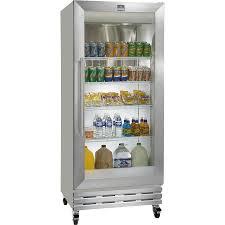 Glass Refrigerator Kelvinator Commercial Kcgm180rqy Reach In Refrigerator One