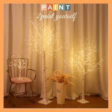 Đèn LED hình cây Bạch Dương trang trí phòng khách, decor quán Coffee, cao  1,2-1,5m tại Hà Nội