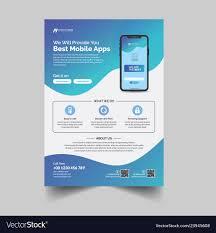 Make Flyer App Mobile App Advertisement Flyer Template