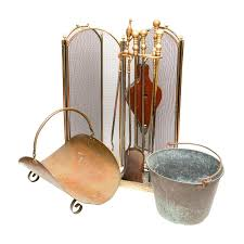 brass fireplace tool set antique solid brass fireplace tool set