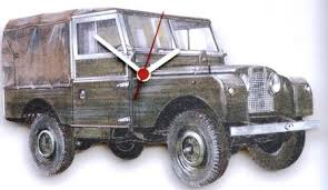 land rover wall clock hand made in uk gift boxed