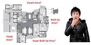 carpet area built up area plinth area