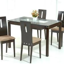 glass top dining tables with wood base golden cotton table set full size