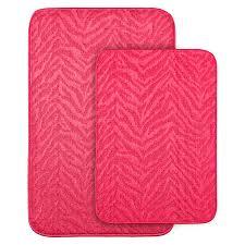 garland rug set of 2 pink bath rug