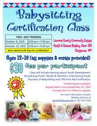babysitting class flyer 2015 10 babysitting class flyer