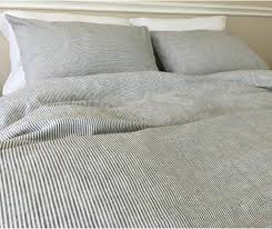 striped duvet cover handmade in natural linen superior custom inside pinstripe design 7