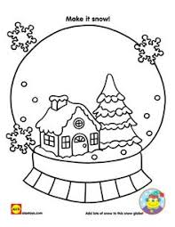 Small Picture Printable christmas snow globe coloring pages for kids christmas