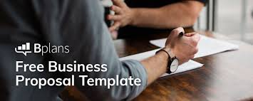 Professional Business Proposals Free Business Proposal Template Bplans