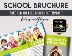 tri fold school brochure template school free psd tri fold psd brochure template on behance