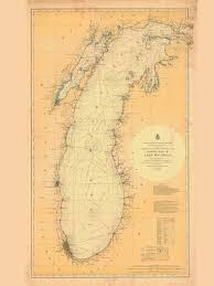 Lake Michigan Nautical Chart Historical Nautical Chart 7 12 1900 Lake Michigan