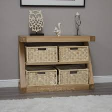 console tables with storage within amazing oak console table with baskets mpfmpf almirah beds tables storage in console tables with storage