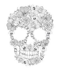 Tete De Mort Fleur Une Tte De Mort En Sucre Mexicain Tout En