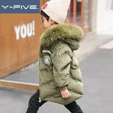 winter duck down jacket for boy girls snowsuit 30 degree real big fur think warm coats children kids 4 16 year winter clothes coats for kids girls