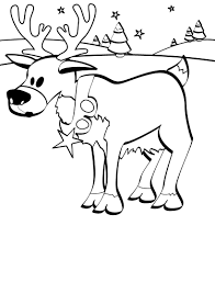 Christmas Baby Reindeer Coloring Pages Rescuedesk Me