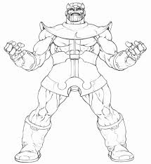 Thanos Coloring Page Design Templates