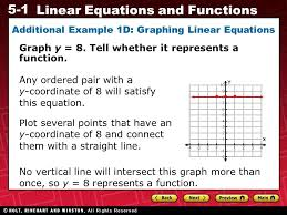 additional example 1d graphing linear equations