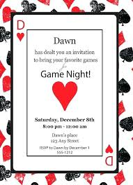 Game Night Invitation Template Casino Theme Party Invitations Ralphlaurens Outlet