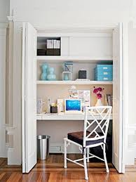 Office designs for small spaces Innovative Closet Office Aptdeco Office Ideas For Small Space At Home With Aptdeco
