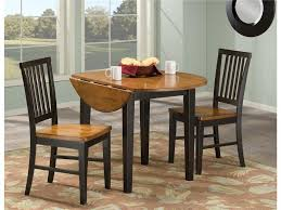 excellent drop leaf pedestal table 4 abbott place round dining antique coaster damen in natural and small round kitchen