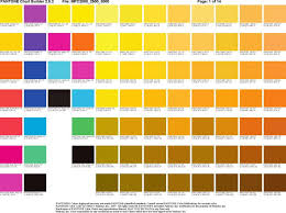 Cmyk Pantone Color Guide Coloring Pages