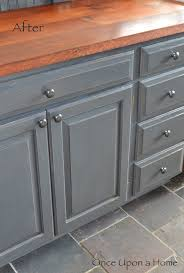Barn Wood Kitchen Cabinets Once Upon A Home Painted Cabinets Slate Floor And Barn Wood