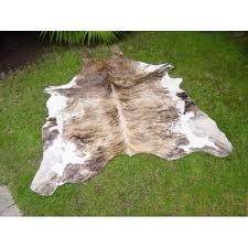 light cream brindle cowhide rug