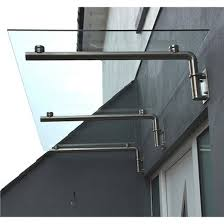 glass over door canopy self cleaning