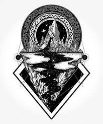 Vektorová Grafika Hory Tetování A Tričko Design Dobrodružství