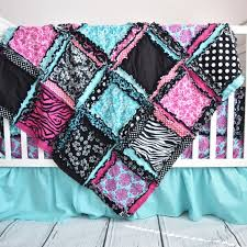 zebra girl baby bedding pink black