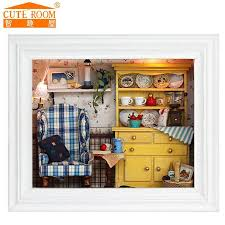 miniature dollhouse furniture for sale. 2016 sale new home decoration crafts diy doll house wooden houses miniature dollhouse furniture kit room for t