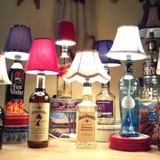 Glass Bottle Lamps Diy Bottle Lamp This Would Make Such A Cool Gift For Anyone Who