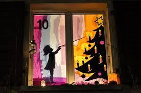 Vorlage Foto Adventsfenster Weihnachtsdeko Fenster Und