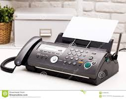 Fax Machine Stock Photo Image Of Cover Electronic Office 61900248