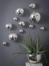 wall spheres silver wall decor