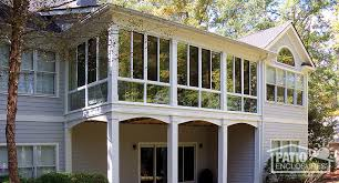 high sunroom with single slope roof