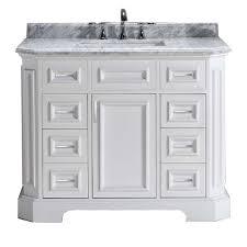 42 white vanity. Beautiful Vanity Pegasus Bristol 42 In Vanity In White With Marble Top Carrara  In