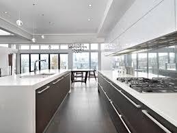 a gallery kitchen