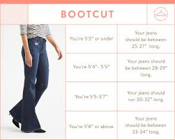 Height And Inseam Chart Guide To Denim Inseams For Women In 2019 Stitch Fix