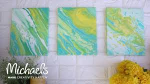 super easy paint pouring on canvas darby smart michaels