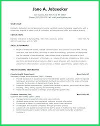 Graduate Resume Objective Best Of New Grad Rn Resume Objective Examples For Students Public Service