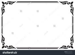 Decorative Frame Border Design Greeting Card Stock Vector Royalty