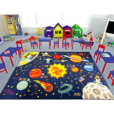 outer space rug kids safari road map educational learning