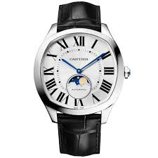 cartier watches for ladies and men at berry s jewellers drive moonphase 40mm silver r dial men s automatic watch cartier