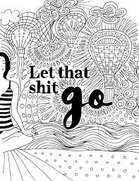 Funny Swearing Adult Coloring Book Page