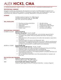 Resume Examples  medical assistant resume template free format     VisualCV