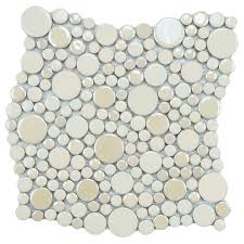 Circle Tiles Merola Tile Cosmo Bubble Almond 11 1 4 In X 12 In X 8 Mm