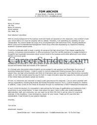 Business Teacher Cover Letter Letter Example