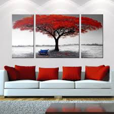wall art ideas design red big tree 3 canvas wall art artistic gallery collection three wooden painting multi panel sofa white top 3 canvas wall art set 3  on multi panel canvas wall art set with wall art ideas design red big tree 3 canvas wall art artistic